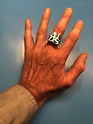 General Idea AIDS Ring Sterling Sliver 1993/96 Limited Edition Activism Indiana