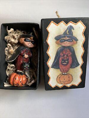 """Halloween Ornament Girl Witch on Pumpkin 4"""" Dept 56 #H"""