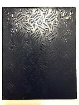 2019 Blue Monthly Day Planner Appointment Book Calender Organizer 8 X 10