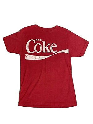 Vintage T Shirt SMALL COKE Coca Cola Red retro