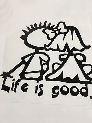 life is good ,car decal/ sticker for windows, bumpers , panels