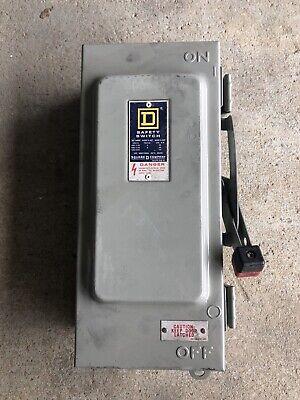 Square D Safety Switch Disconnect Hu361awk 30 Amp 600 Volt Non Fusible Nema 3r