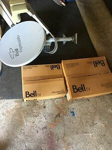 Bell ExpressVu satellite dish with receiver and PVR
