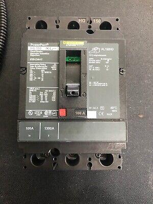 Square-d Powerpact Hg150breaker 100 Amp 3 Pole Hgl36100 Fresh Take Out No Box