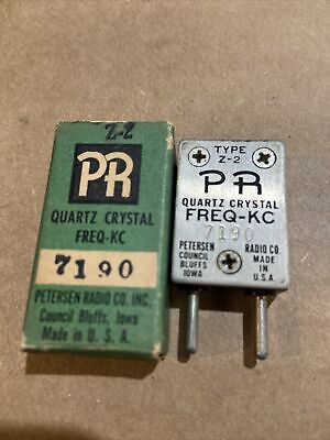 Vintage Petersen Radio Ham Radio Crystal Freq. Kc 7190 Type Z-2