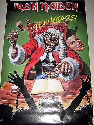 """Iron Maiden  """"the Judge""""  #3300 - Orig. vintage Poster  Exc. new cond.- 22 x 34"""""""