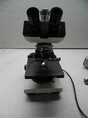 Leica Galen Iii Microscope With 4 Objectives And Camera