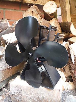 Stove Fan 4 Blade ECO Heat Powered Stove Top Fan Wood Burner Fire 12MTH WARRANTY