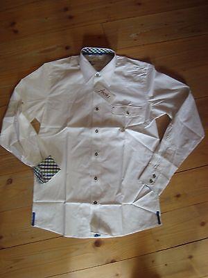 Fuchs Trachtenhemd 1117 Hemd langarm  weiß  Gr. S M L XL XXL 3XL
