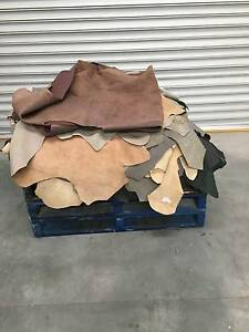 ITALIAN LEATHER COWHIDE 26 LARGE PIECES ASSORTED COLORS Keilor Brimbank Area Preview