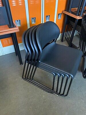 Plastic Stack Chair By Hon Office Furniture Model 4031 In Black