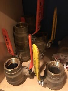 Ball valves plumbing gas threaded solder sweat hose bibb Cambridge Kitchener Area image 5