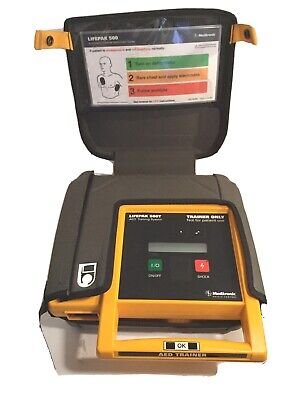 Medtronic Lifepak 500t Training Aed System - Case - Remote - No Battery