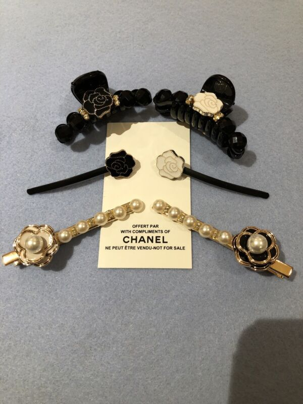Chanel Vip Hair Accessories 6 Piece Lot