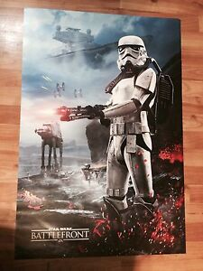 Star Wars Battlefront double sided poster.