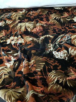 House of Hackney LIMERENCE Velvet Fabric, Tobacco,  sold by yard