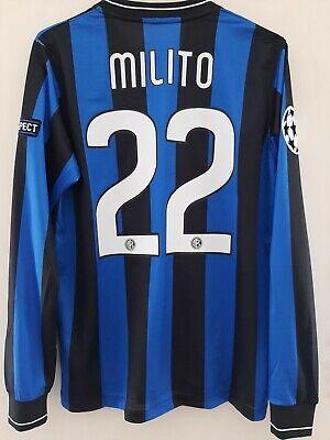 CAMISETA INTER DE MILAN FINAL 2010 #22 MILITO Size S Shirt