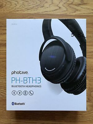 Photive Bluetooth Headphones PH-BTH3 wireless with case TESTED, Micro USB needed