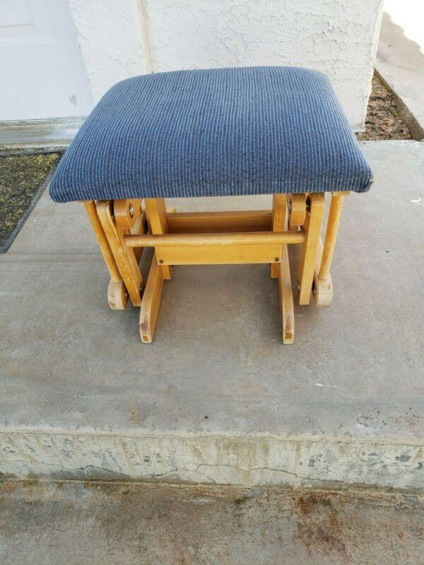 Gliding Ottoman Footstool Nursery/Baby/Rocker Glider Blue Seat. Great for kids!