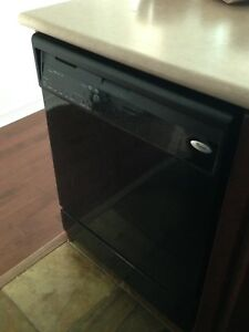 Full Size Dish Washer, Fridge, Electric Stove, Black, Whirlpool