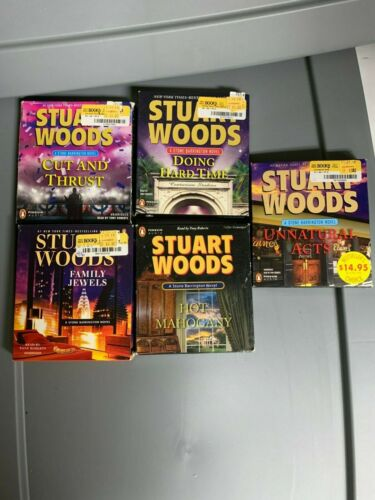 Mixed Lot of 5 Audio Books by Stuart Woods, CD Wholesale Lot