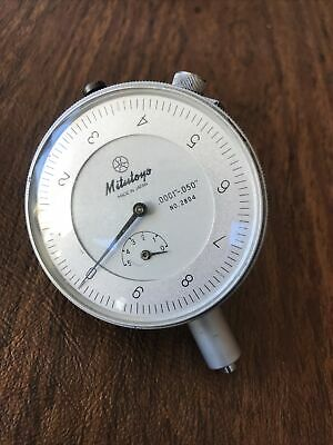 Dial Indicator Mitutoyo Machinists No. 2804-10 Dial Indicator .050 Range .0001