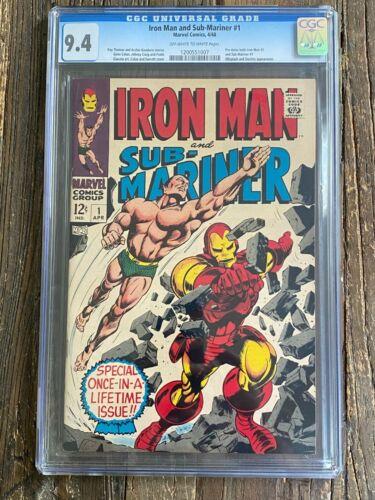 Iron Man & Sub-Mariner #1 CGC 9.4 (Marvel 1968) 🔥 Blue Chip Marvel Book
