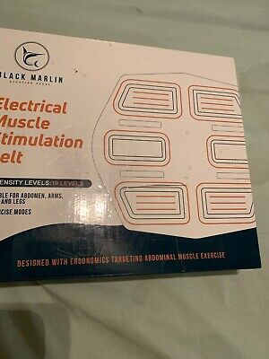 BLACK MARLIN New EMS Electric Abs Stimulator Best Abdominal Muscle Trainer Abs (Best Ems Muscle Stimulator)