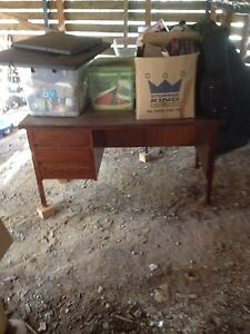 Wooden desk Montmorency Banyule Area Preview