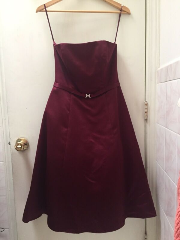 Michaelangelo Formal Party Dress Wine Color Women Size 4