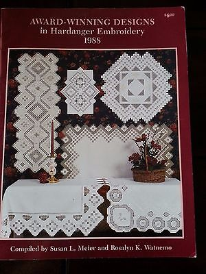 Award Winning Designs Hardanger Embroidery 1988 Pattern Book Meier and Watnemo