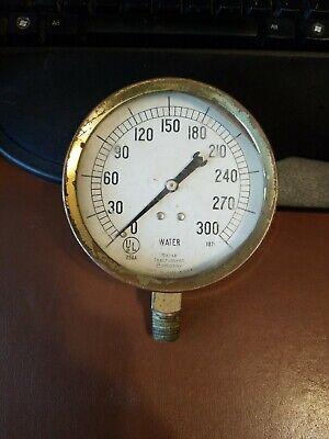 Vintage Marsh Instruments Skokie Il Pressure Gauge 0-300 Psi Steampunk Crafts