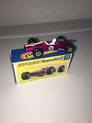 VINTAGE Matchbox SUPERFAST 19 Lotus Racing Car