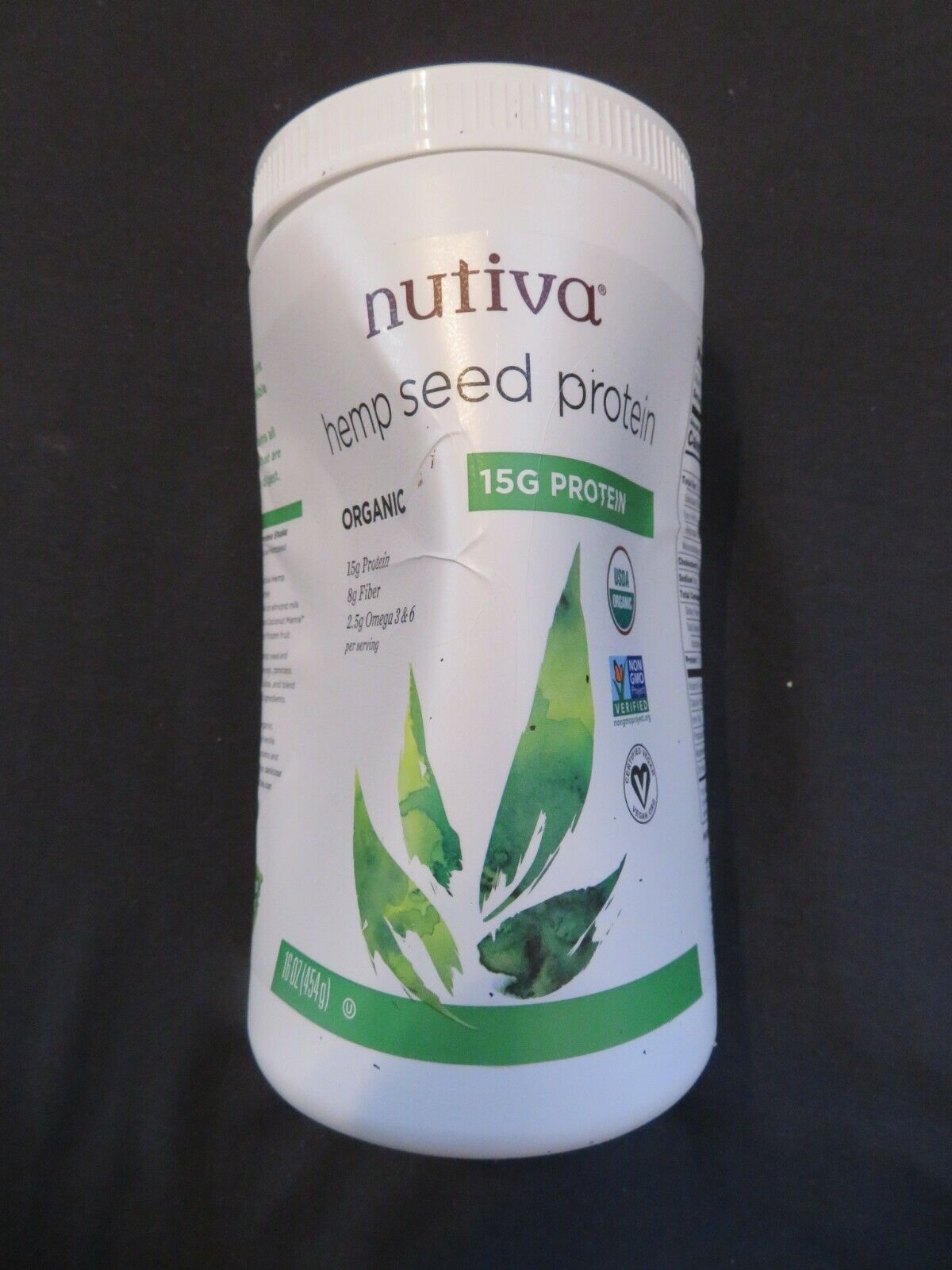 Nutiva Hemp Seed Protein Organic 15 g Protein 16 Oz 15 Servings @4