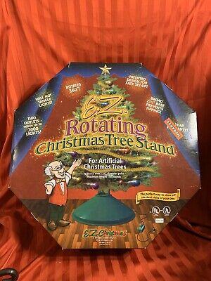 EZ Rotating Christmas Tree Stand Revolving Rotates 360 Artificial