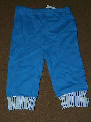 NWT Boys BON BEBE Blue Athletic Sweat PANTS Size 3-6 Months