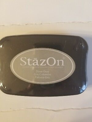 - StazOn DOVE GRAY Solvent Craft Ink Pad Full Size SZ-33