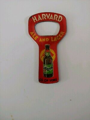 Harvard Ale & Lager Lithographed Opener Harvard Brewing Co. Lowell Mass.