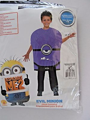 Rubies Child Medium/8-10 Evil Minion Purple Halloween Party Costume Decoration - Evil Purple Minion Halloween Costume