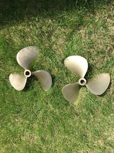 Two Brass Boat Propellers