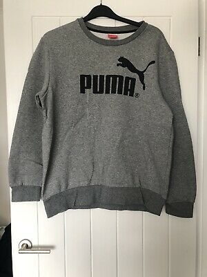 Mens Puma Grey Sweatshirt Jumper Size L