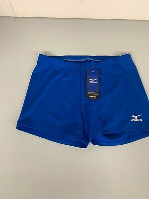 New Mizuno Women's Drylite Low Rider Volleyball Shorts Blue XL NWT Extra -