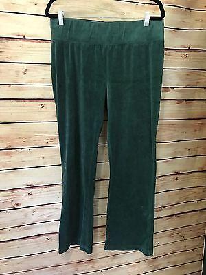Liz Lange Maternity Size L Green Velour Pants Yoga Athletic Pants