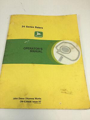 Vintage John Deere 24 Series Balers Operator's manual OME38936 H7
