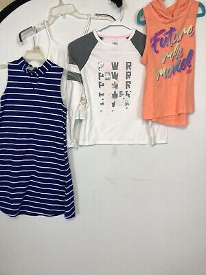 Skechers, Abercrombie, Lot Of 4 Pieces Tees Girls 7-8 Year Old Clothing T-Shirt