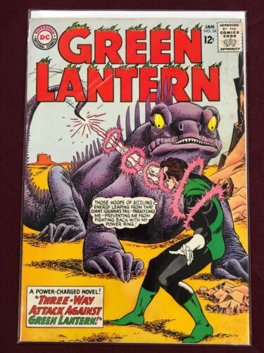 GREEN LANTERN 34  Professionally Graded 7.5 VF-