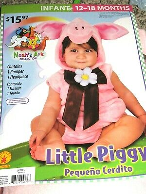 NEW Infant Halloween Costume Little Pink Piggy Size 12 -18 months](Little Piggy Costume)