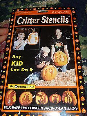 Halloween EUC Critter animal pumpkin carving bear bunny cat mouse owl patterns