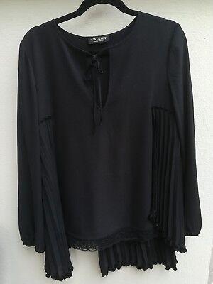 Party Bluse Set (Edle Damen-Bluse von TWINSET, Gr. 40 mit Plissee)