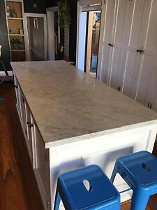 Real marble kitchen bench tops and island Annandale Leichhardt Area Preview